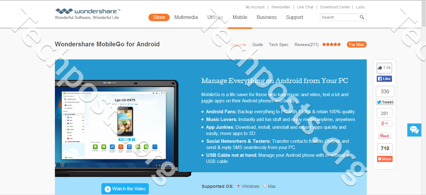 www wondershare com android manager