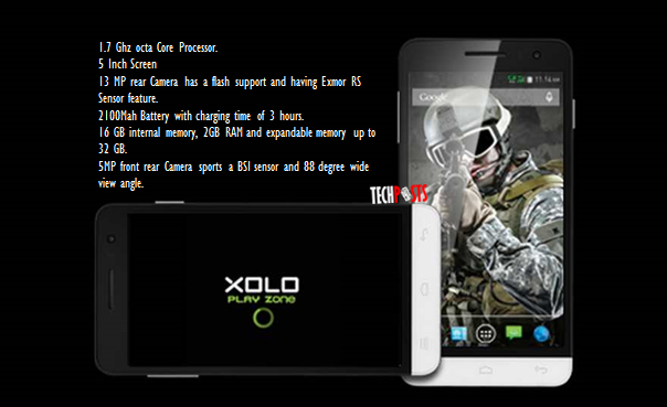 Xolo Play 8X-1100 specifications and features