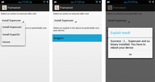 Frameroot APP to Root Android Phone or Tablet without using PC