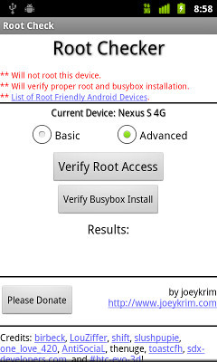 Root Checker Basic App to check if your phone or Tab is rooted or Not.