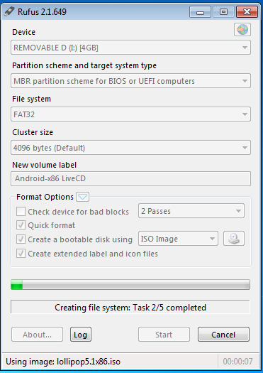 Creating Androidx86 Bootable USB Drive using Rufus App