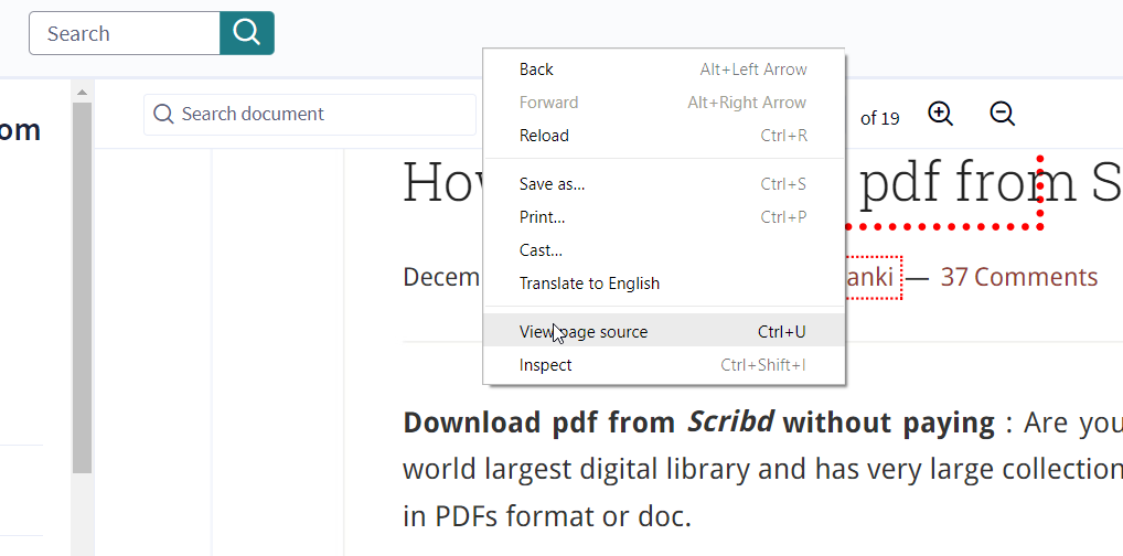 How to Download Documents from Scribd for free 2019 - 100