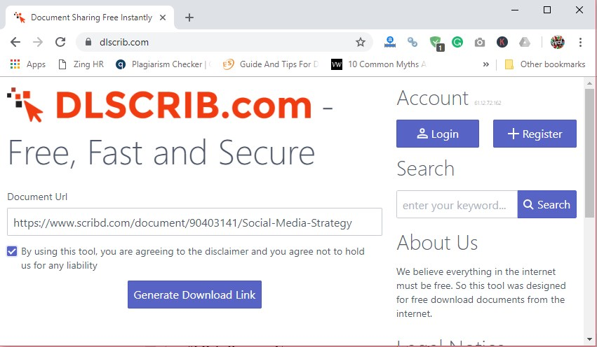 how to get a free scribd account