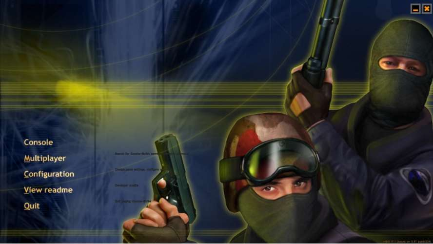 Counter Strike game running on Android Phone