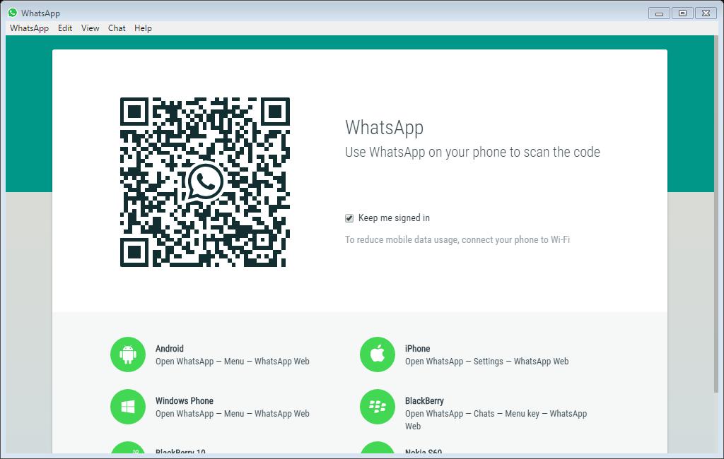WhatsApp for Windows and Mac - Scan the QR Code