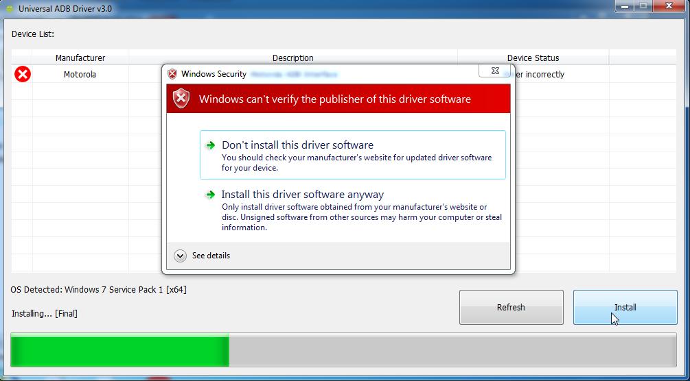 Универсальный драйвер adb для windows 10