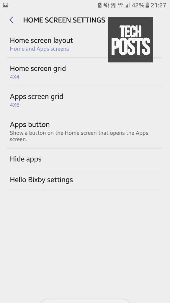 Bixby settings