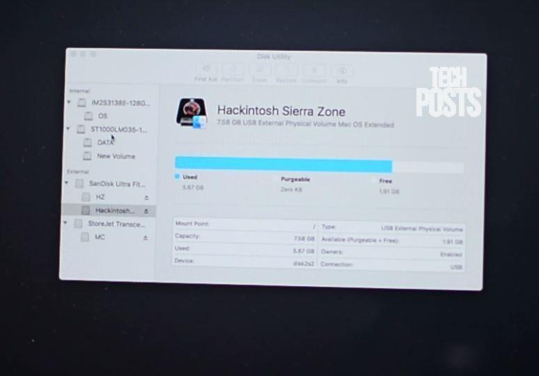 Preparing Disk for Mac OS