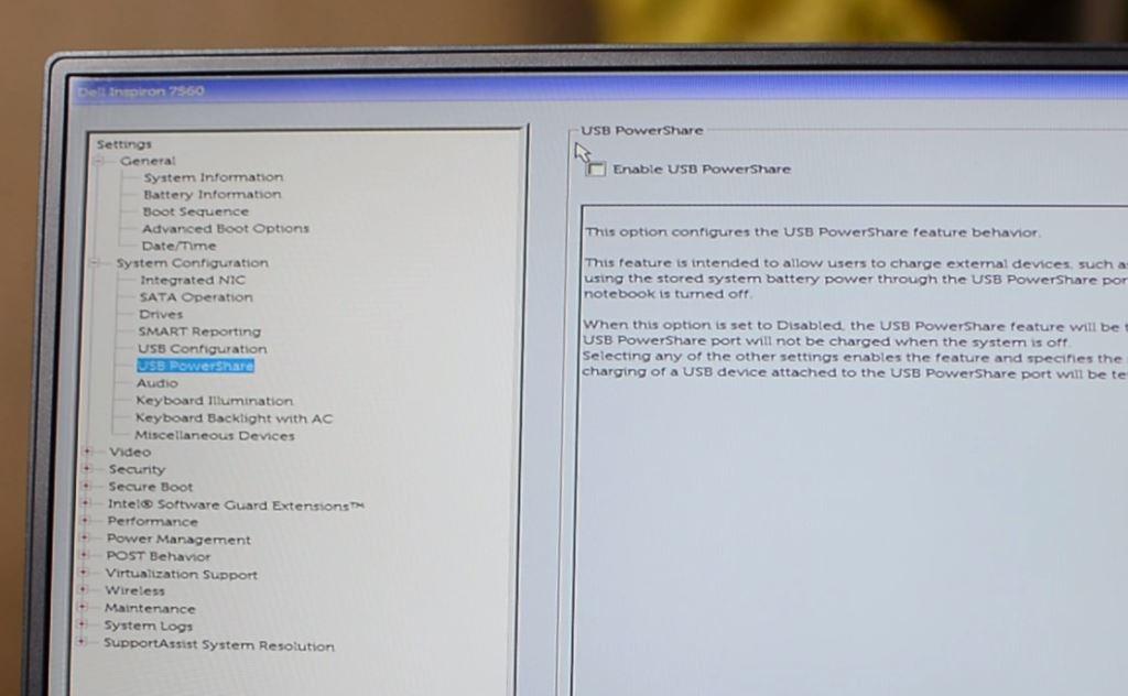 Disable VTD in Dell 7560
