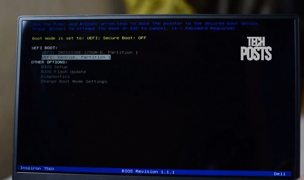 Choose Thumb Drive to Boot Mac OS Installer