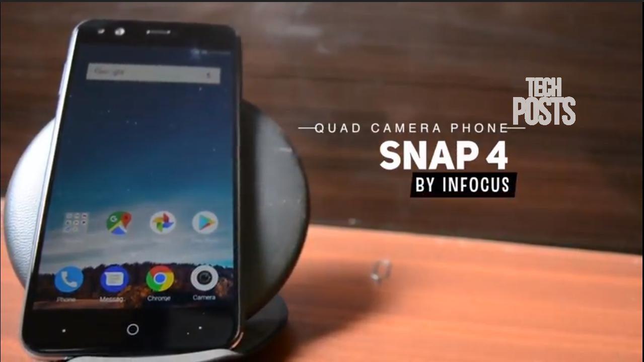 InFocus Snap 4 Unboxing & Camera Review - Quad Camera Smartphone 2017 - YouTube