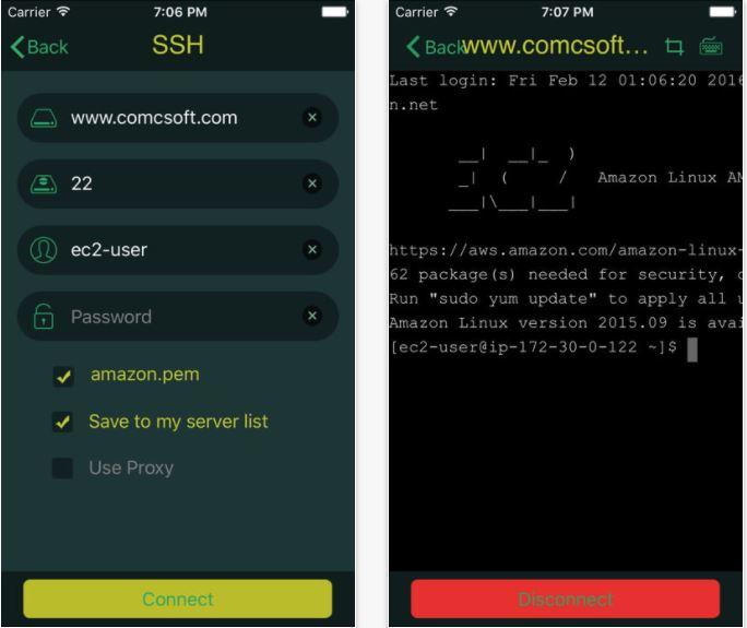 iTerminal iPhone Putty SSH Telnet Client Alternative