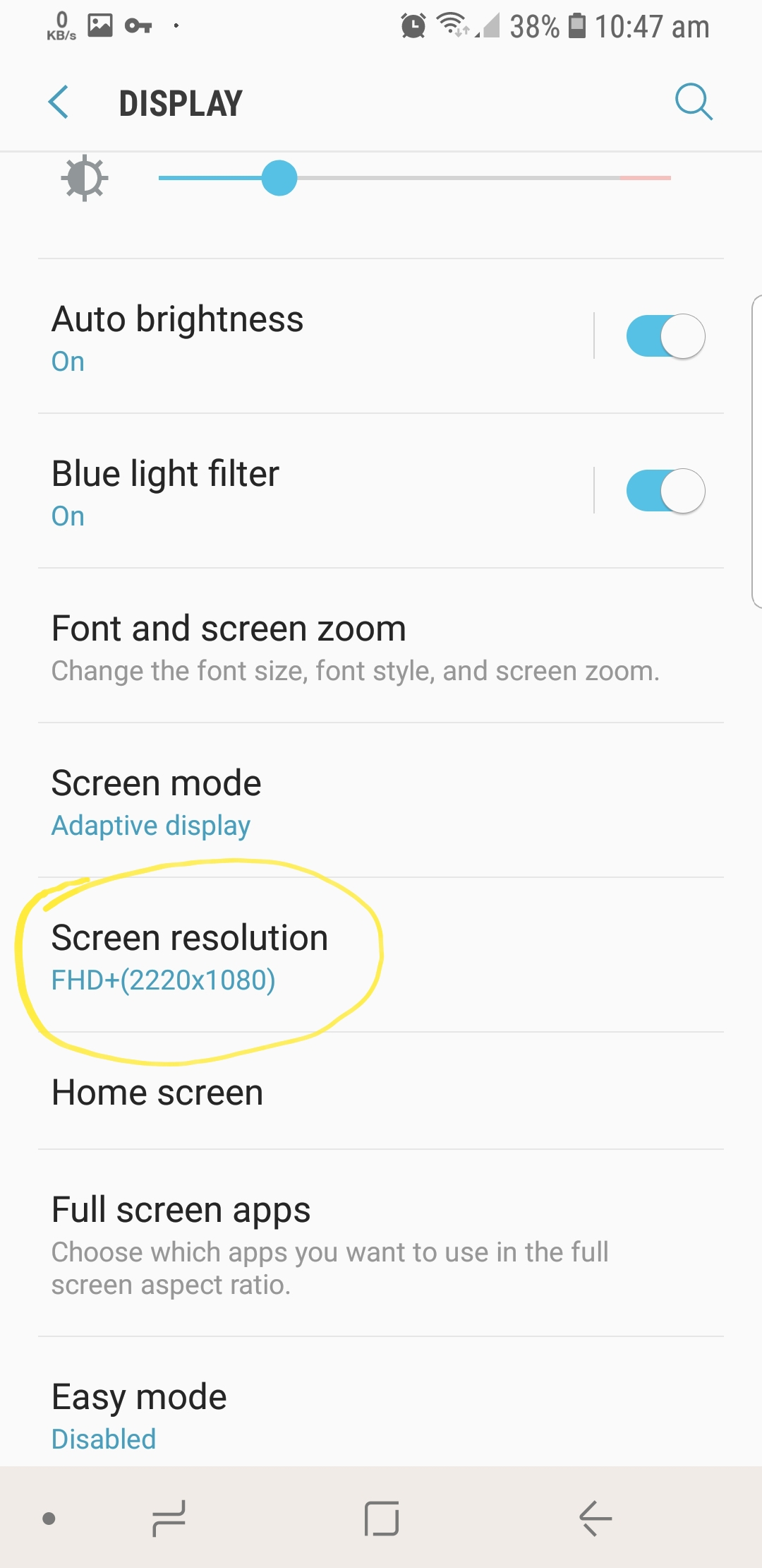 Change android display screen reolution no root