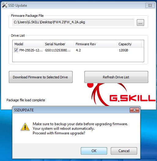 G.Skill SSD Firmware Update tool