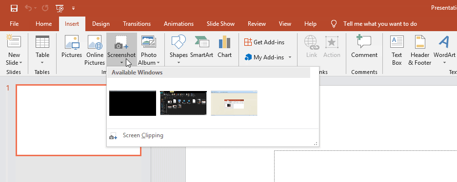 Capture screenshot with MS PowerPoint