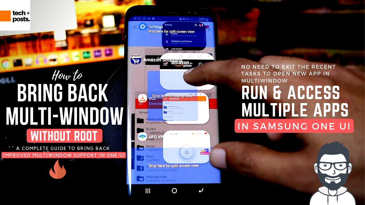 Bring Back Multi-Windows Features of Oreo to Samsung One UI _S8, S9, S10, Note 8, Note 9, and A8 _ No ROOT