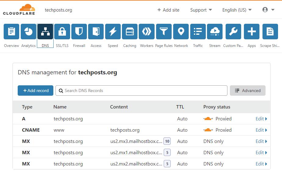 Agregar sitio web a Cloudflare CDN